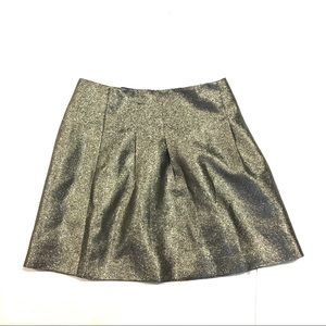 Madewell Women's Gold Metallic Shimmer Skirt